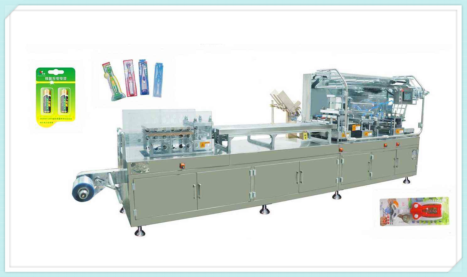 Automatic toothbrush blister packaging machine