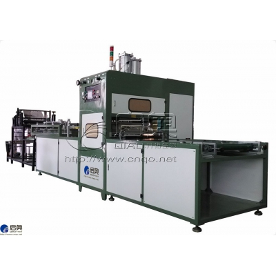 Automatic continuous high-frequency fusing machine